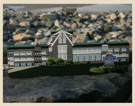 The anchorage inn property. The Anchorage Inn offers 4 distinct buildings of guest rooms. The Main Building, The Atrium, The Lofts, & The Ocean Suites.