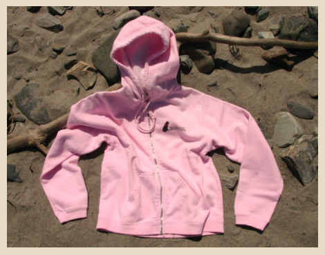 Zip Hoodie with our classic Beach Dog logo. York Beach, Maine.