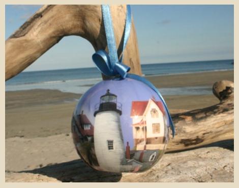 Nubble Lighthouse, Cape Neddick Lighthouse, Portland Head Light, Bass Harbor Light, Maine Lighthouses Ornament, York Beach, Maine
