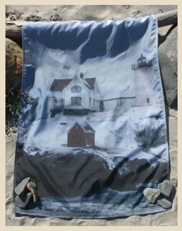 Nubble Lighthouse Flag, Cape Neddick Lighthouse Flag, York Beach, Maine