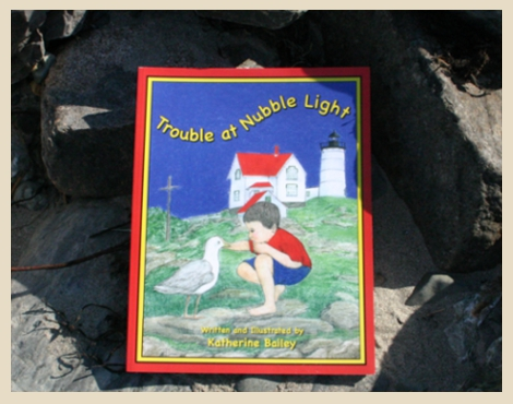 Written and Illustrated by Katherine Bailey, autographed, Nubble Lighthouse, York Beach, Maine