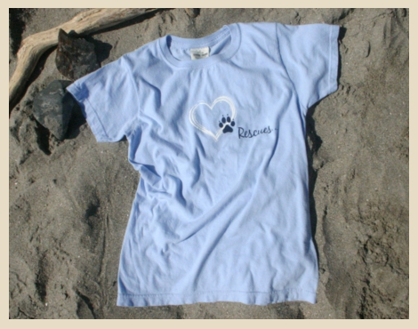 Rescue Dogs T-shirt, Heart Rescue T, Exclusive Rescue T-shirt, Beach Dog, York Beach, Maine